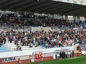Estadio Francisco Artés Carrasco - Image: Tribuna del Artés Carrasco