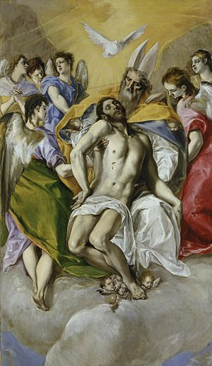 The Holy Trinity, 1577–1579, by El Greco