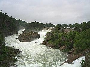 Göta älv - Trollhättan Falls in Göta älv