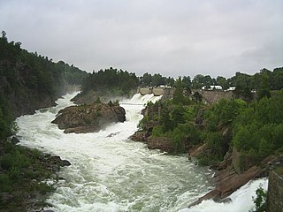 Göta älv river in Sweden; with the Klarälven, the longest river system in the Nordic countries