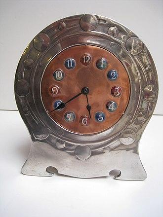 Tudric - Image: Tudric Clock