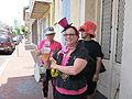 Tumblers at Pride 2010 hats.JPG