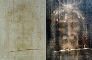 Shroud of Turin Length of linen cloth bearing the image of a man who is alleged to be Jesus of Nazareth