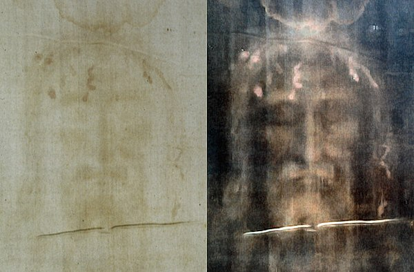 600px-Turin_shroud_positive_and_negative_displaying_original_color_information_708_x_465_pixels_94_KB - The Shroud of Turin (La Sindone di Torino) - Bible Study