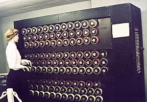 Cryptanalysis - The Bombe replicated the action of several Enigma machines wired together. Each of the rapidly rotating drums, pictured above in a Bletchley Park museum mockup, simulated the action of an Enigma rotor.
