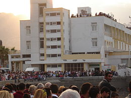 Turkish Cypriots watching Turkish Stars show Kyrenia 1.jpg