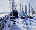 Twachtman约翰康涅狄格州海岸Winter.jpg