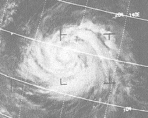 1971 Pacific typhoon season - Image: Typhoon Irma (1971)