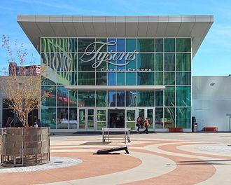 Tysons Corner Center - The new entrance to Tysons Corner Center leading from the Washington Metro Silver Line mezzanine.