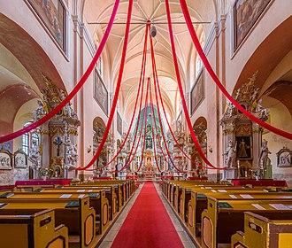 Tytuvėnai - Image: Tytuvėnai Monastery Church Interior, Tytuvėnai, Lithuania Diliff