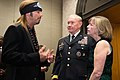 U.S. Army Gen. Martin E. Dempsey, center, the chairman of the Joint Chiefs of Staff, and his wife, Deanie, right, talk with Bret Michaels during the Operation Homefront sixth annual Military Child of the Year 140410-D-KC128-021.jpg