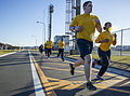U.S. Sailors assigned to the aircraft carrier USS George Washington (CVN 73) participate in a 1.5-mile run during a Navy-wide semiannual physical readiness test at Commander Fleet Activities Yokosuka, Japan 131212-N-IP531-095.jpg