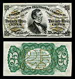 Twenty five-cent third-issue fractional note