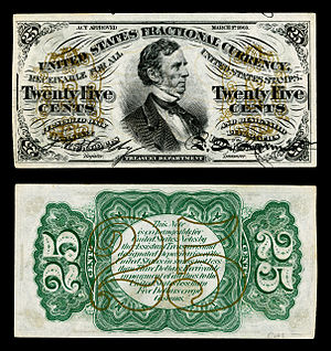 William P. Fessenden - Fessenden was one of only three people depicted on United States Fractional currency during their lifetime.