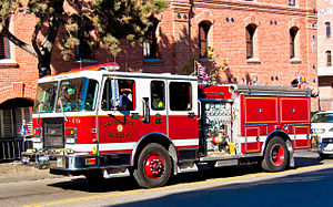 San Francisco Fire Department - SFFD Engine 16, quartered in the Marina District