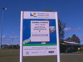 USC Rugby welcome sigin - vs. Maroochydore.JPG