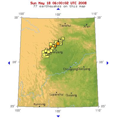 Earthquake Zones China Sichuan Earthquake Zone