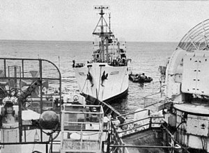 USNS Timber Hitch (T-AGM-17) - Image: USNS Timber Hitch 1962