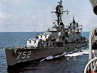 USS Alfred A. Cunningham - Alfred A. Cunningham underway, circa 1969.