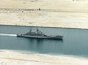 USS Bainbridge (CGN-25) - Bainbridge in the Suez Canal