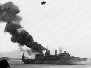 USS Curtiss (AV-4) burning 7 Dec 1941.jpg