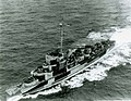USS Dobler (DE-48) underway in the Atlantic Ocean on 9 September 1944 (BuAer 28333).jpg