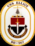USS Elliot (DD-967) insignia, circa 1976 (NH 85499-KN).png