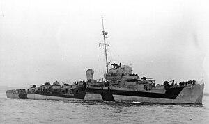 USS Lee Fox (DE-65) off New York City on 13 October 1944