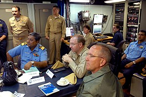 Debriefing - Debriefing onboard USS Ronald Reagan (CVN-76).