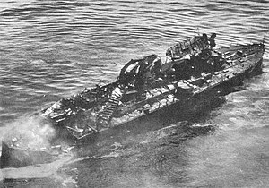 USS Virginia (BB-13) - Virginia after the aerial bombing test, shortly before sinking.