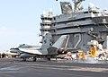 US Navy 021102-N-8497H-002 Hornet makes an arrested landing on the flight deck.jpg