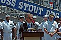 US Navy 060417-N-5307M-388 U.S. Ambassador to the Dominican Republic, Hans H. Hertell, addresses guided-missile destroyer USS Stout (DDG 55) Sailors about the opportunity between the Stout and the Dominican Navy working togethe.jpg