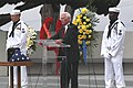 US Navy 070521-N-4995K-058 Astronaut Gene Cernan speaks at the memorial service held for Astronaut and retired naval officer Walter Schirra.jpg