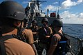 US Navy 070920-N-4014G-091 Members of the visit, board, search and seizure team aboard guided-missile destroyer USS Porter (DDG 78) are briefed prior to conducting an exercise.jpg