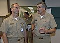 US Navy 071022-N-9985W-047 Commander, 2nd Fleet Vice Adm. Marty Chanik briefs Commander, U.S. Fleet Forces Command Adm. Jonathan Greenert, on the capabilities of the different directorates at Commander, 2nd Fleet headquarters.jpg