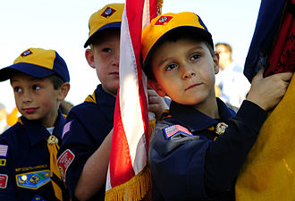 Cub Scouting (Boy Scouts of America) - Wolf Cubs in Virginia (red color being phased in for hat and neckerchief)