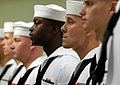 US Navy 090605-N-0807W-322 Newly selected 3rd Class Petty Officers stand in formation during their frocking ceremony at Fleet Activities Sasebo.jpg