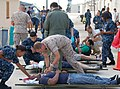 US Navy 100923-N-6106P-002 Members of the Naval Health Clinic Jacksonville medical staff conduct a mass casualty drill.jpg