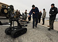 US Navy 110128-N-4267W-084 Members of NATO reserve force interact with an explosive ordnance disposal manned transportable robot during a tour of N.jpg