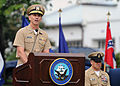 US Navy 110916-N-KV696-115 Vice Chief of Naval Operations (VCNO) Adm. Jonathan Greenert delivers remarks during a pinning ceremony for the newest N.jpg