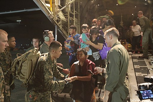 US marines Typhoon Haiyan relief