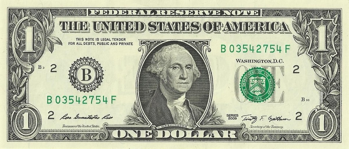 United States One Dollar Bill Wikipedia