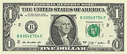 US one dollar bill, obverse, series 2009.jpg