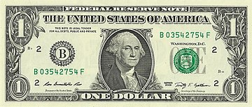 Federal Reserve $1 note, 2009 issue Onedolar2009series.jpg