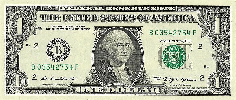 Lêer:US one dollar bill, obverse, series 2009.jpg