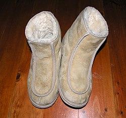 Short length Ugg boots.