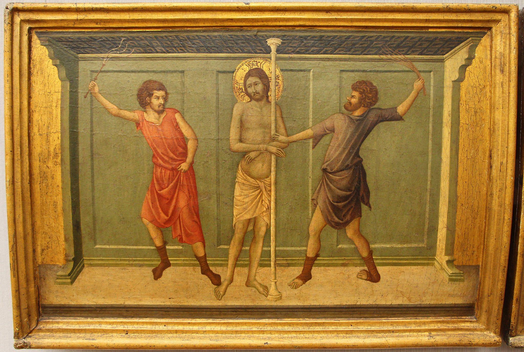 Ugolino di nerio, scomparti di polittico da santa croce a firenze, 1325-35 ca. 02 flagellazione