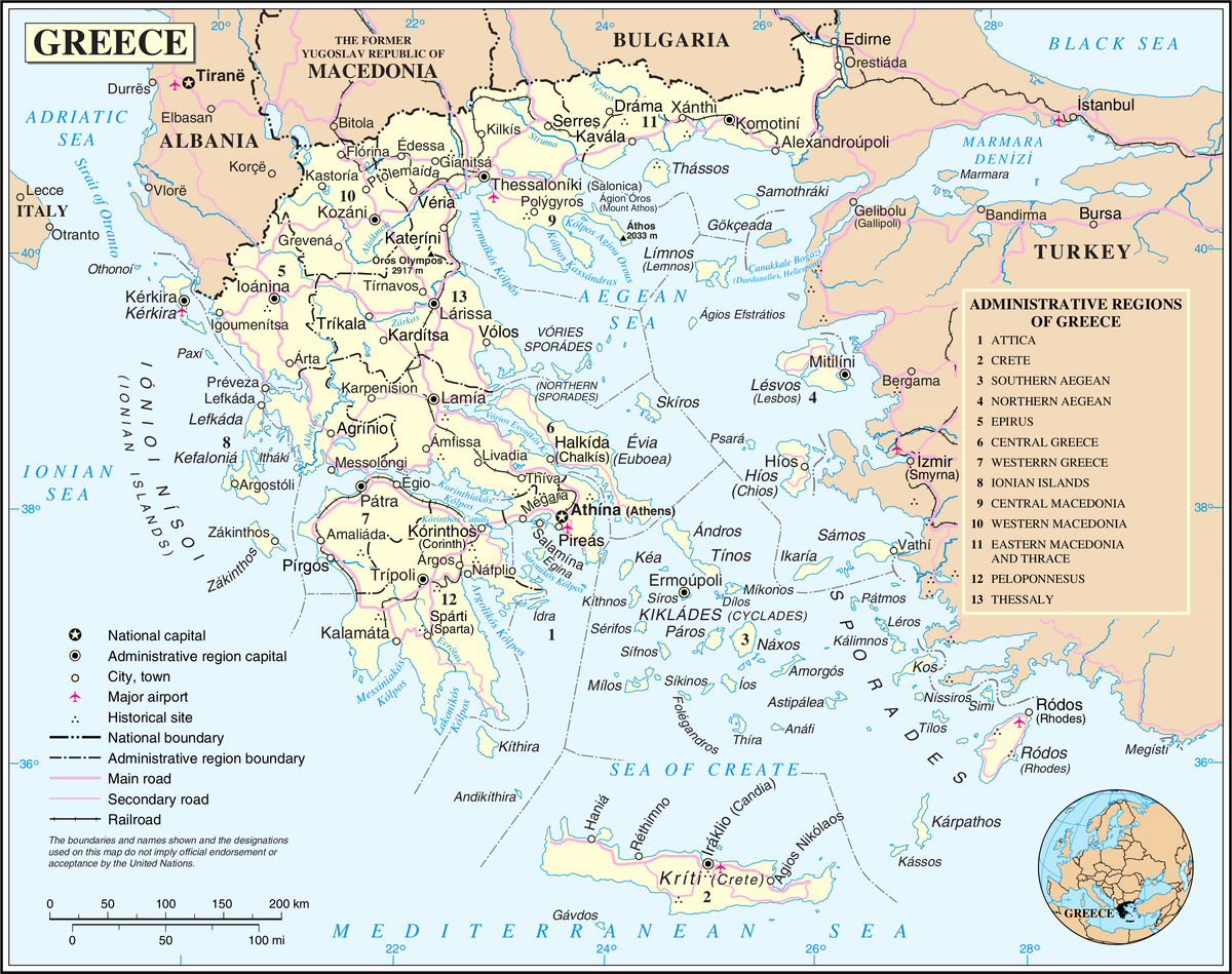 Administrative regions of Greece Wikipedia