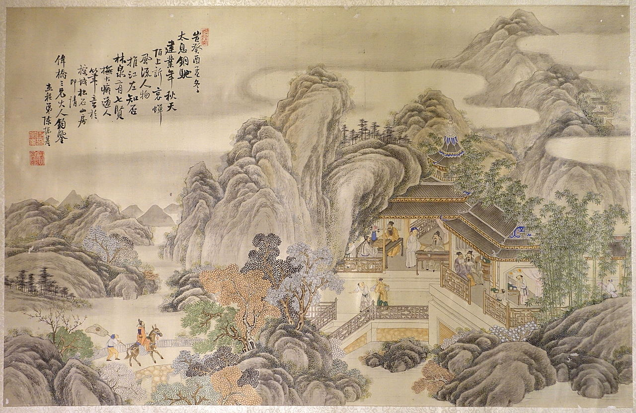 File unidentified painting china qing dynasty 1800s for Dynasty mural works