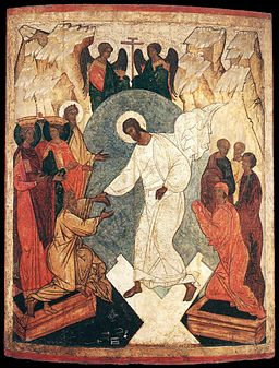 Unknown painter - Resurrection of Christ and the Harrowing of Hell - WGA23499